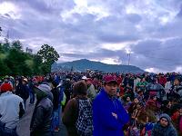 Manifestantes liberan rutas bloqueadas