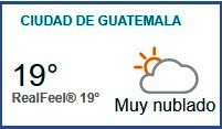 Clima Nacional octubre 24, martes