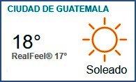 Clima Nacional noviembre 06, lunes