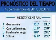 Clima Nacional noviembre 16, jueves