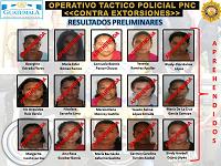 57 personas detenidos tras allanamientos contra extorsionistas