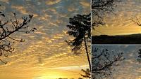 Espectacular amanecer con celaje (Fotos)