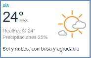 Clima Nacional febrero 13, martes