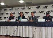Conferencia de Prensa en el MP por allanamientos contra estructura criminal