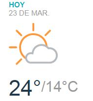 Clima Nacional marzo 23, viernes