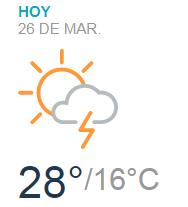 Clima Nacional marzo 26, lunes