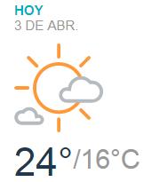 Clima Nacional abril 03, martes