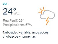 Clima Nacional junio 06, miércoles