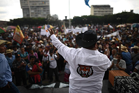 #Actualización: Continúa manifestación de CODECA en Plaza de la Constitución y Congreso