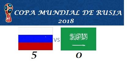Finaliza el primer partido entre Rusia y Arabia Saudí
