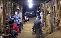 Artistas sirios convierten los túneles de los terroristas en galerías de arte