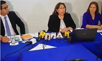 Conferencia de Prensa convocada por Thelma Aldana en relación a nombramiento de fiscales regionales
