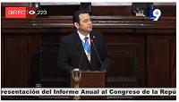 Presentación de tercer informe de Gobierno de Jimmy Morales