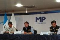 Conferencia de prensa por corrupción en Municipalidad de San Miguel Dueñas