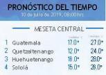 Clima Nacional julio 10, miércoles