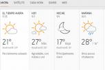 Clima Nacional enero 09, jueves