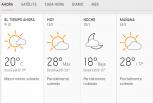 Clima Nacional enero 13, lunes