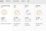 Clima Nacional enero 16, Jueves