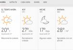 Clima Nacional enero 17, Viernes