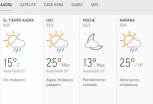 Clima Nacional enero 22, miércoles