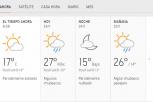 Clima Nacional enero 24, viernes