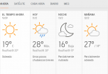 Clima Nacional Mayo 28, jueves